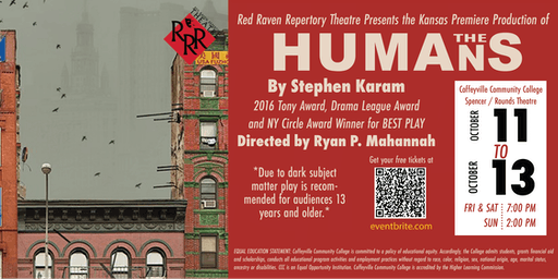 Red Raven Repertory Theatre Presents- THE HUMANS (Kansas Premiere)