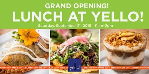 Vegan Cafe Grand Opening at Yello!