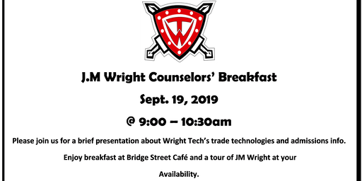 J.M Wright Annual Counselors' Breakfast