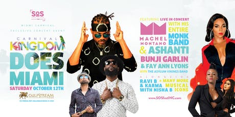 Carnival Kingdom Miami | Machel Montano | Bunji Garlin | Ashanti Live! tickets