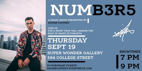 'Numb3r5': The Magic Show Presented by Xavier Caffrey tickets