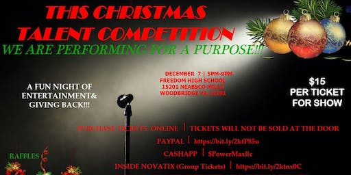 This Christmas Talent Competition, We Are Performing For A Purpose