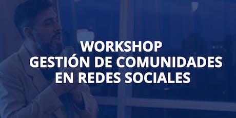 """Curso """"Gestión de Comunidades en Redes Sociales"""" entradas"""