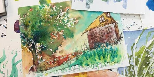 Painting Intuitively in Watercolour Day Workshop
