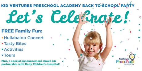 Kid Ventures Preschool Academy Back to School Party! tickets