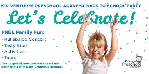 Kid Ventures Preschool Academy Back to School Party!