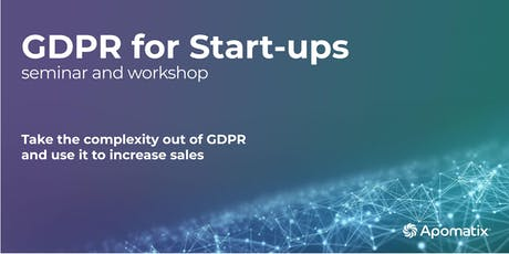 Start-up GDPR seminar and workshop tickets