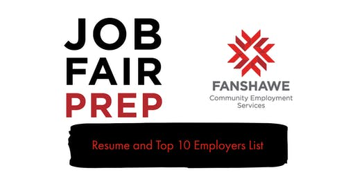 Job Fair Prep: Session 1 - Resume and Top 10 Employer List