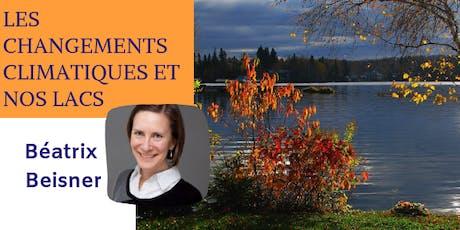 Conférence: Les changements climatiques et les lacs billets