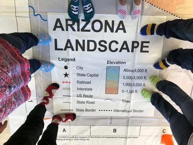 Using the Giant Arizona Floor Map - ASU Tempe campus