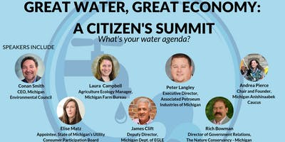 Your Water, Your Voice: Great Waters, Great Economy Summit - Lansing