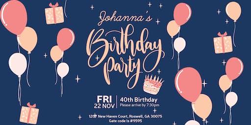 Johanna's 40th Birthday Party