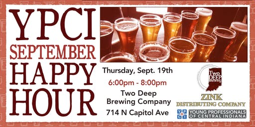 YPCI: September Happy Hour at TwoDeep Brewing Co, pres by Zink Distributing