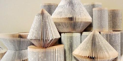 Christmas craft; Book folding and card making