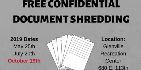 Free Confidential Document Shredding tickets