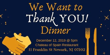 "NJMS CRC's ""We Want to Thank You!"" Dinner tickets"