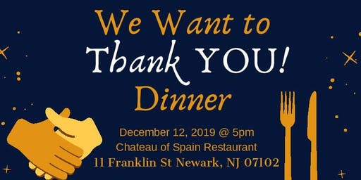 "NJMS CRC's ""We Want to Thank You!"" Dinner"