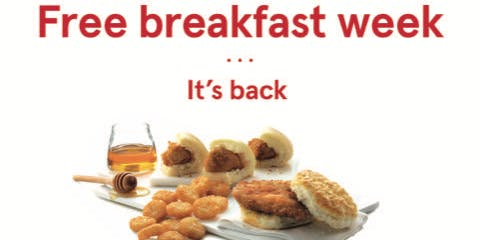 Chick-fil-A Mount Prospect Free Breakfast Week
