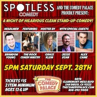 Spotless Saturdays Clean Comedy Show