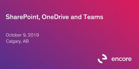 SharePoint, OneDrive and Teams tickets
