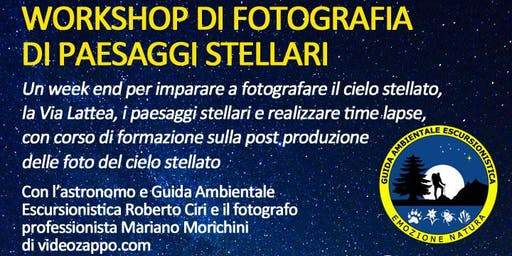 Workshop fotografico di paesaggi stellari