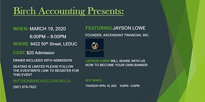 Birch Accounting Speaker Series - Jayson Lowe
