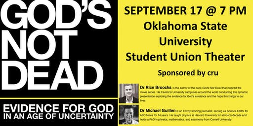 God's Not Dead with Dr. Rice Broocks at Oklahoma State University