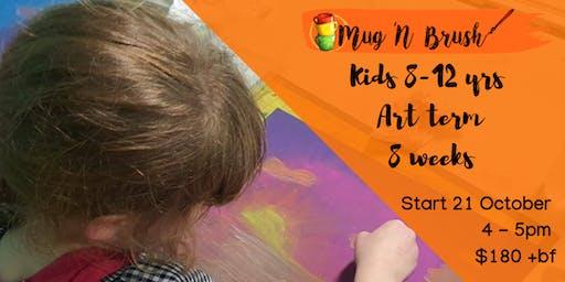 8-12 yrs Kids  8 week Art term