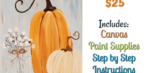 Paint Party- Hello Fall! -Friday Sept. 20th at 7pm at the 1620 winery