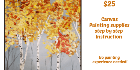 Fall Birch Paint Party - Flynns Mon. Sept 23rd 7pm