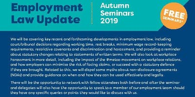 Employment Law Update - Autumn 2019 Oswestry