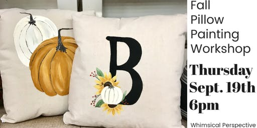 Fall Pillow Painting Workshop