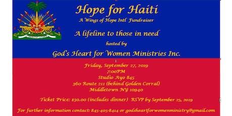 Hope for Haiti tickets