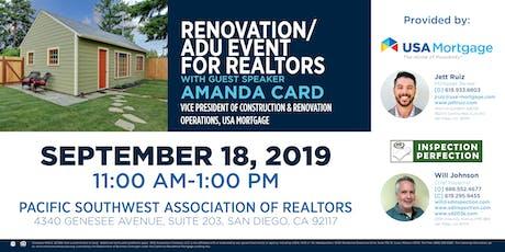 Renovation/ADU Event for Realtors tickets