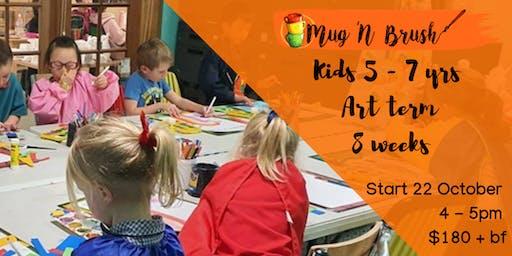 5-7 Year Old Kids 8 week Art Term