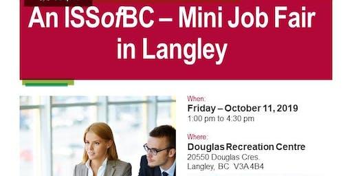 An ISSofBC - Mini Job Fair in Langley