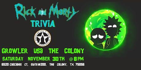 Rick & Morty Trivia at Growler USA The Colony tickets