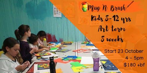 8-12 Year Old Kids 8 week Art Term