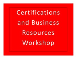 Pike County Small Business Certifications and Business Resources Workshop