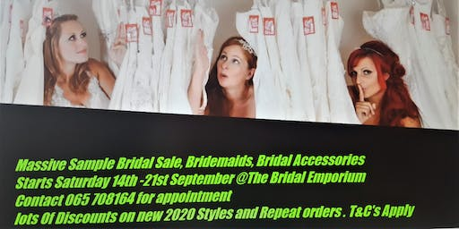 Massive Bridal , Bridemaids and Bridal Accessories Sale