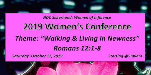 "NDC Sisterhood Women of Influence Presents: ""Walking and Living in Newness"""