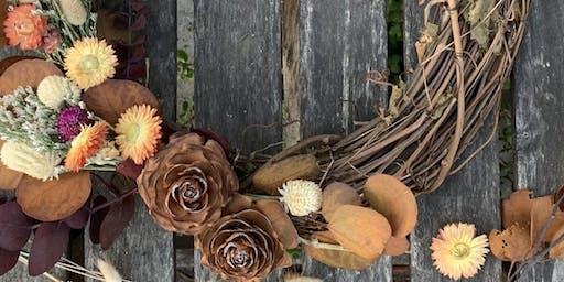 Fall Wreath Workshop with Fractal Flora at Backyard SJ