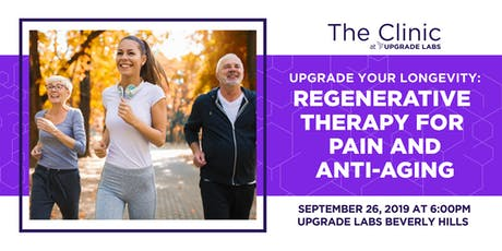 Upgrade Your Longevity: Regenerative Therapy for Pain and Anti-Aging tickets