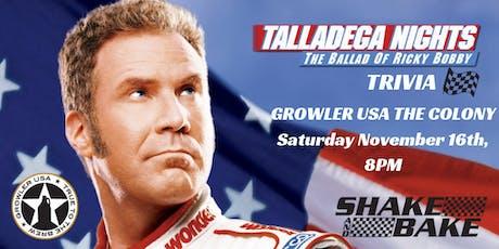 Talladega Nights Trivia at Growler USA The Colony tickets