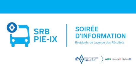Soirée d'information - Résidents de l'avenue des Récollets tickets