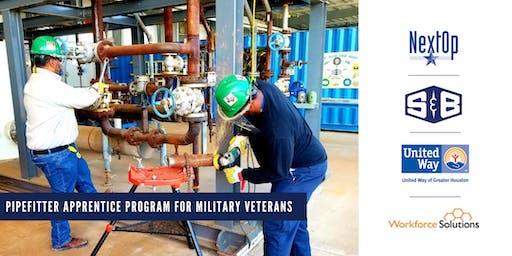 S&B Pipefitter Apprentice Program for Military Veterans