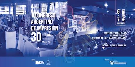 V Congreso Argentino de Impresión 3D entradas