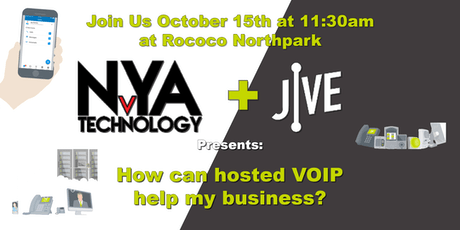 NvYA Technology + Jive Presents: How can hosted VOIP help my business? tickets