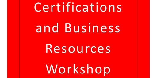 Fayette Co. Small BusinessCertifications and Business Resources Workshop