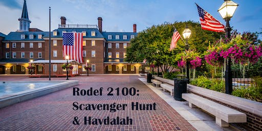 Rodef 2100: Scavenger Hunt and Havdalah